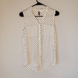 H&M Divided Button Down Sleeveless Top